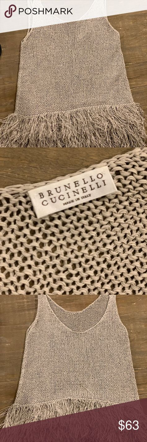 Brunello Cucinelli summer top! Light weight and fun!  This Brunello Cucinelli is perfect for the 🏝 Brunello Cucinelli Tops