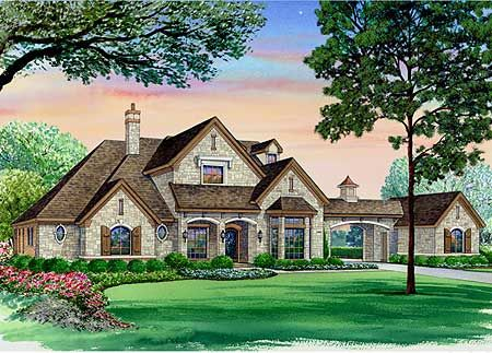 european with port cochere