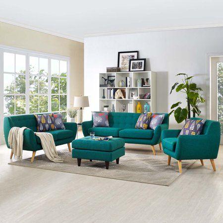 Modway Remark 3 Piece Living Room Set, Multiple Colors, Blue ...