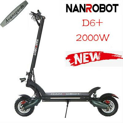 Advertisement Ebay Us Nanrobot City Commute Electric Scooter D6 10 2000w 52v 26ah Oil Brake In 2020 With Images