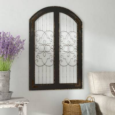 Large Architectural Window Wall Decor