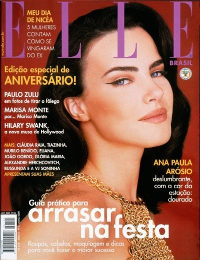 Elle Brazil May 2000 Model Ana Paula Arosio Murilo Benicio