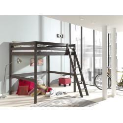 Hochbett Pino Taupe Massiv 140x200 Cm Rollerroller Hochbett Bett Und Hochbett Mit Schreibtisch