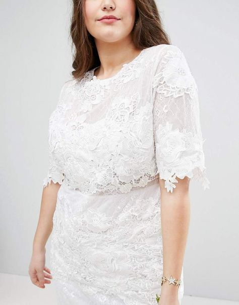 bdfdc0a5 Asos EDITION Curve Lace Embroidered Midi Wedding Dress #Curve#Lace#Asos