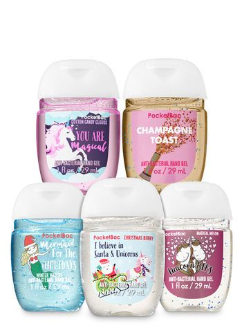 Holiday Unicorns Amp Mermaids Pocketbac Hand Sanitizers 5 Pack