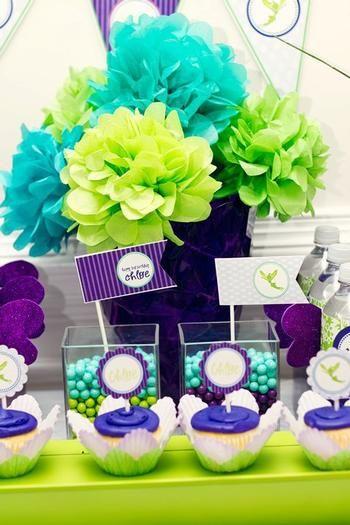 Turquoise & Lime & Purple