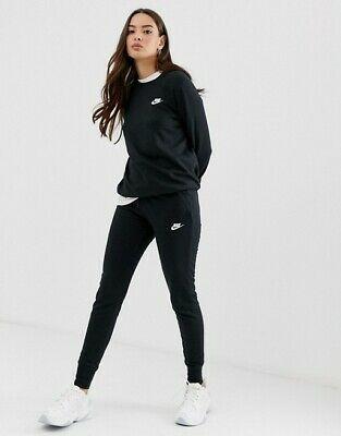 Nike Club Sweatpants Logo Womens Track Pants Black Multi ...