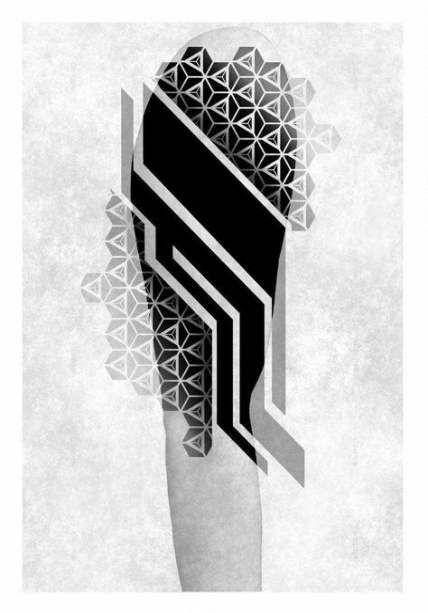 43+ Ideas tattoo geometric color blackwork