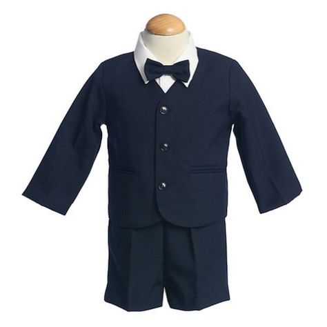c2caf62f2 Lito Boys Navy Eton Short Formal Wear Ring Bearer Easter Suit 4T * Click  image to review more details.
