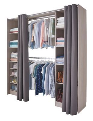 Amenagement Spaceo Dressing Decor Chene Profondeur 50 Cm Leroy Merlin Chene Dressing Dressing Chambre