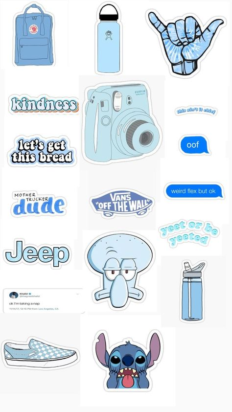 Blue aesthetic stickers 💙 - #aesthetic #Blue #stickers