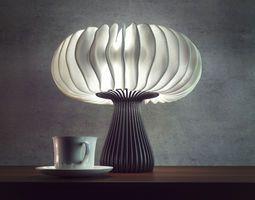 Nexus Wave Lamp 3d Printable Model Generative Design Lamp 3d Printing