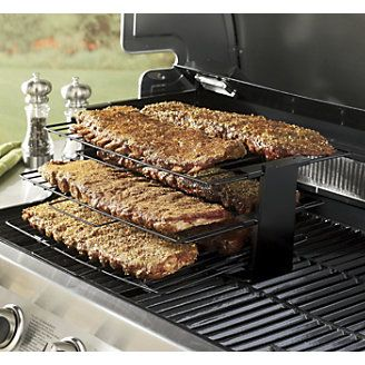 3 Level Smoker Rack Increases Your Grill S Surface E And Saves Time By Smoking Multiple Foods At One Www Ginnys