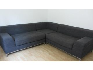 Ikea Kramfors Myrby Grey Large 3 Part Modular L-Shaped Sofa ...