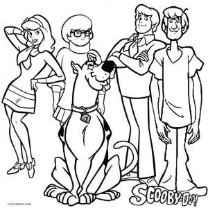Daphne Blake From Mystery Inc Coloring Books Scooby Doo