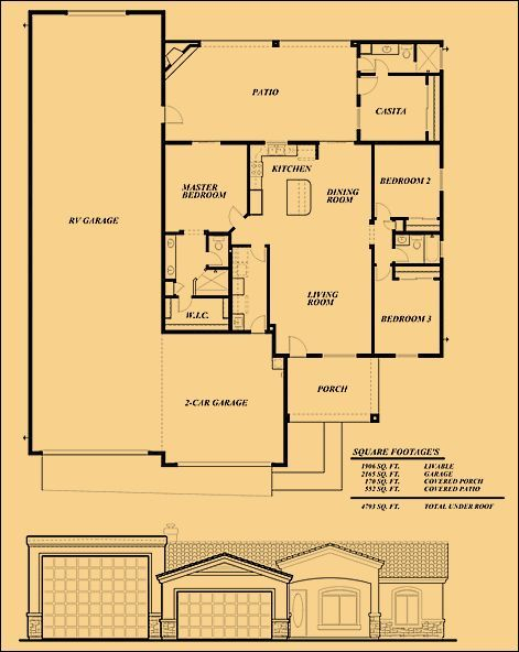 Rv garage home plans house plan 2017 for Rv home plans