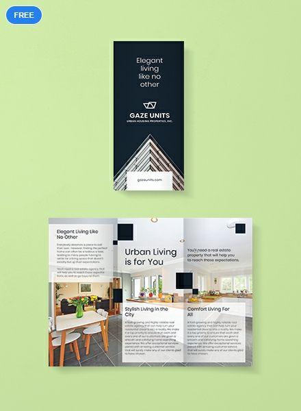 Free Real Estate Property Brochure Brochure Template Brochure