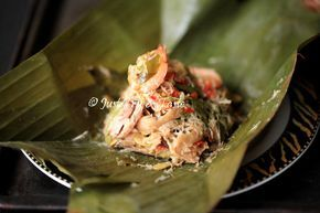 Resep Bothok Jamur Tiram Dengan Lamtoro Dan Udang Masakan Indonesia Masakan Jamur
