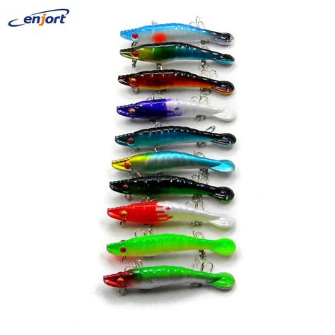 15pcs Minnow Curly Tail Worm Barbed Hook Lead Jig Head Soft Bait Fishing Lure