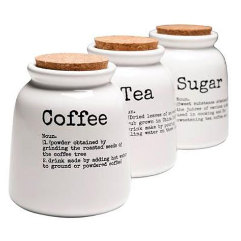 Tea Coffee Sugar Canisters   Design55