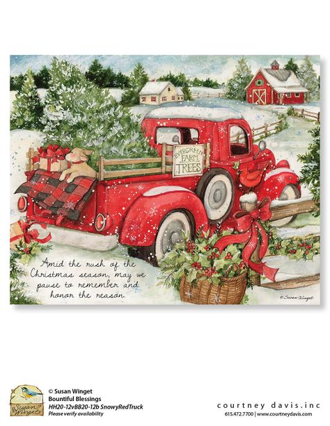 Handmade Shabby Farm Fresh Retro Red Car Tree Hanging Sign