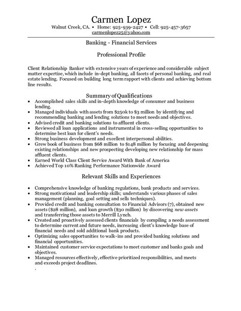 Cover letter investment banking Banking cover letter examples - small business banker sample resume