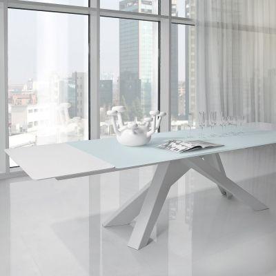Big Table, tavolo allungabile in cristallo di design made ...