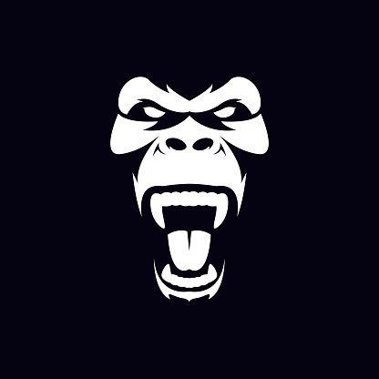 Gorilla Face Illustration For T Shirt Design Monkey Animal Design Png And Vector With Transparent Background For Free Download Produk Desain