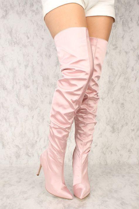 Kaufen Sie Sexy Blush Pointy Close Toe Slouchy Overknee-Stiefel mit günstigen … – Mariah Sisneros – Join in the world of pin