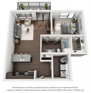 1 Bed 1 Bath 775 Sq Ft Apartment Layout Apartment Floor Plans Apartment Design