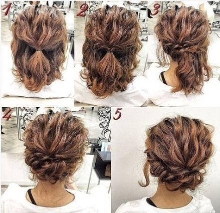 Wedding Hairstyles Thin Hair Mom 17 Ideas Short Hair Updo Curly Hair Styles Curly Hair Styles Naturally