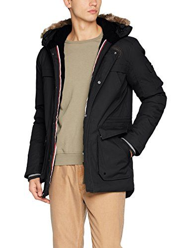Bench Schwarz Parka Small Herren Black Nomens Beauty Bk11179 CBdxoer