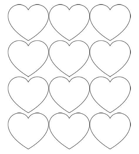 graphic regarding Valentine Template Printable titled Free of charge Printable Middle Templates Significant, Medium Minimal