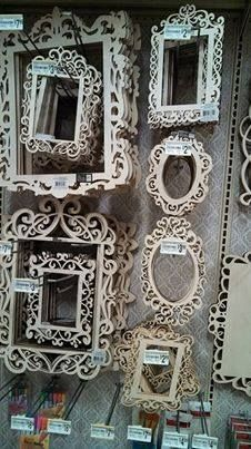unfinished decorative wood frames. Loads of ideas on how to use these cute frames!