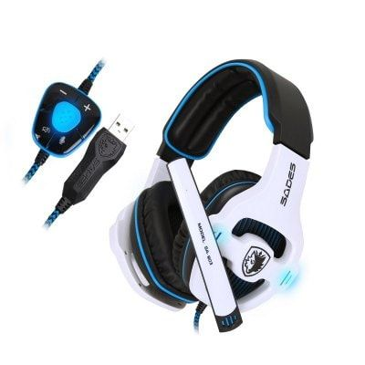 Sades SA-903 7 1 Surround Sound Effect USB Gaming Headset