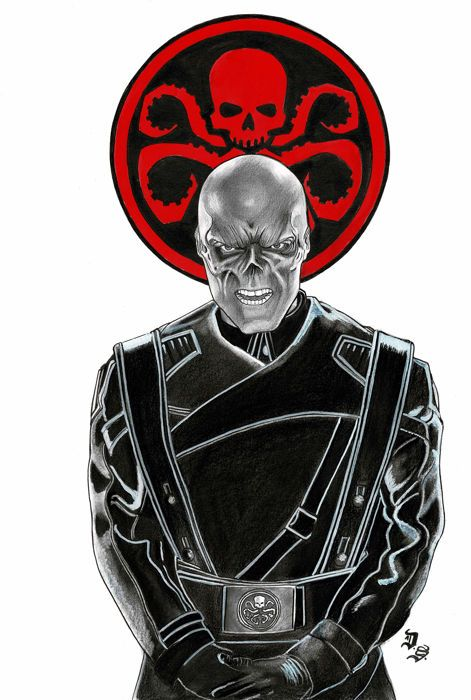 Offered in Catawiki's Comic Auction (US Comics & Original Comic Art): Septiembre, Diego - Original Drawing - Red Skull - Format: 42 x 30 cm - Marvel Comics - with COA - Signed Diego Septiembre.