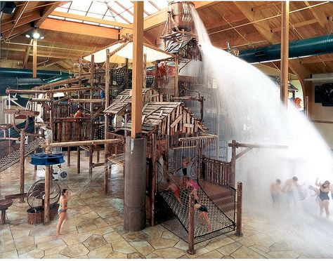 the Great Wolf Lodge KC. (Hotel and indoor waterpark)