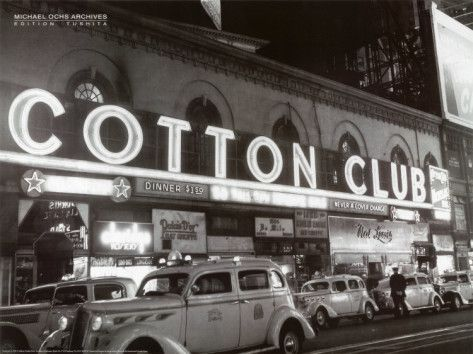 The Cotton Club was a famous speakeasy in New York City. The club was first owned by Jack Johnson. Although everyone who performed at the club was black, all the guests were white. The Cotton Club, Louis Armstrong, Roaring Twenties, The Twenties, 20s Music, Jazz Music, Tango, Night Club, Night Life