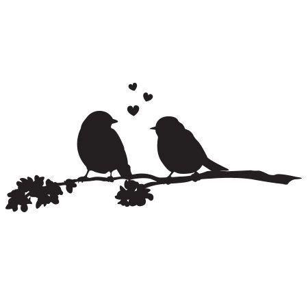 Love Birds Stamp Bird Stamp Love Birds Art