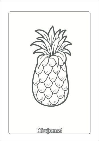 10 Dibujos De Frutas Para Imprimir Y Colorear Dibujos Net Dibujos De Frutas Frutas Para Colorear Frutas