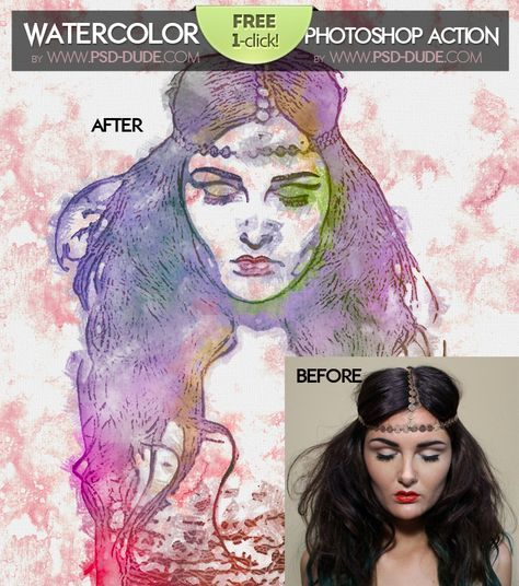 Watercolor Photoshop Action Tutorial Youtube Photoshop Actions