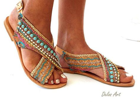 f90f10e5b5a8 Greek Leather Sandals