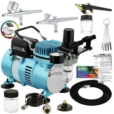 Details About Master 3 Airbrush Dual Fan Air Compressor