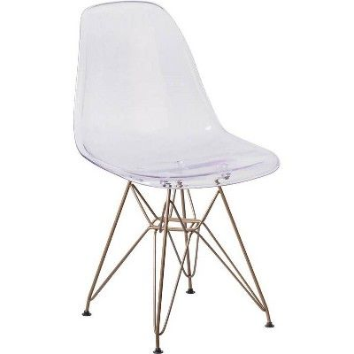 Elon Series Ghost Chair Clear Riverstone Furniture Collection In