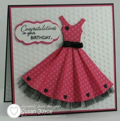 открытки с днем рождения своими руками платья следующий раз