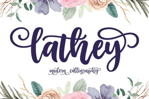 Lathey (Font) by Keithzo (7NTypes) · Creative Fabrica