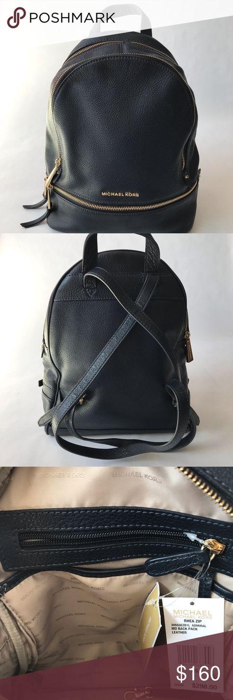 678c39b33993 Michael Michael Kors Backpack Michael Michael Kors, Rhea Medium Leather  Backpack. Color Admiral.