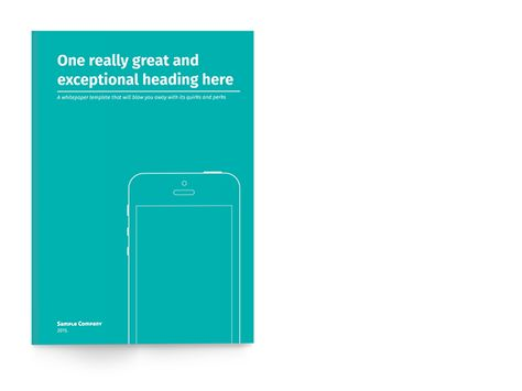 White Paper Template for InDesign on Behance Reports White - white paper template