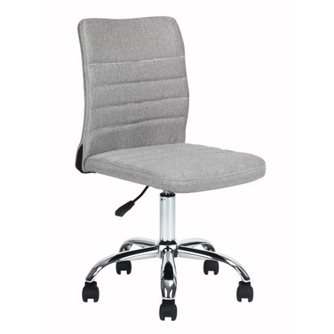 Adjustabletask Chair Fabric Seat Back With Stitching Grey Home Office Chair Office Chairs Best Buy Office Chair Home Office Chairs Adjustable Office Chair