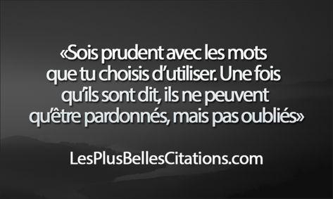 Citation : Les Mots   Les Plus Belles Citations: Collection des citations d'amour, citations de la vie et Belles Phrases